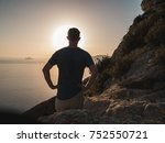young man standing on top of a...   Shutterstock . vector #752550721