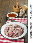 raw and fresh suckling pig... | Shutterstock . vector #752553229