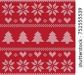 christmas sweater pattern | Shutterstock .eps vector #752555539