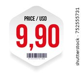price tag with barcode vector | Shutterstock .eps vector #752555731