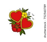 hearts and flowers | Shutterstock .eps vector #752560789