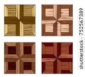 modular parquet. four texture... | Shutterstock .eps vector #752567389