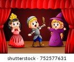 little kids theater performance | Shutterstock . vector #752577631