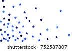 many random falling stars... | Shutterstock .eps vector #752587807