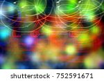 light painting with the... | Shutterstock . vector #752591671