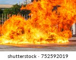 flames do more to train... | Shutterstock . vector #752592019