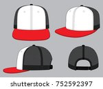 hip hop net hat design vector | Shutterstock .eps vector #752592397