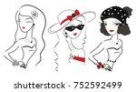 three beautiful stylish... | Shutterstock .eps vector #752592499