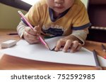 asia small little girl hand of
