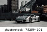 Small photo of 9/29/17 - New York, NY - releasing in 2013 Porsche unveiled its hybrid hypercar the 918. Only 918 were produced. Side angle