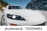 modern car front is on the... | Shutterstock . vector #752594851