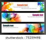 elegant colorful web banners