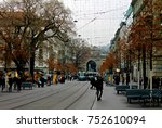zurich  switzerland  central... | Shutterstock . vector #752610094