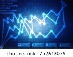2d rendering stock market... | Shutterstock . vector #752616079