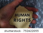 human rights concept with... | Shutterstock . vector #752622055