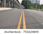 roads and elevated railways... | Shutterstock . vector #752624845