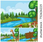 background scenes with animals... | Shutterstock .eps vector #752626225