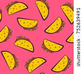 colorful seamless pattern with... | Shutterstock .eps vector #752639491
