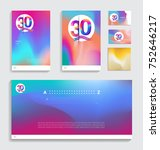 30th anniversary with fluid... | Shutterstock .eps vector #752646217