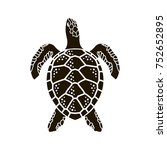 black sea turtle icon isolated... | Shutterstock .eps vector #752652895