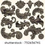 ornate decorative elements....   Shutterstock .eps vector #752656741