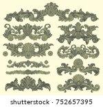 ornate decorative elements....   Shutterstock .eps vector #752657395
