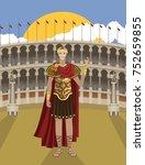 julius caesar great roman... | Shutterstock .eps vector #752659855