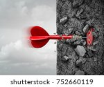 focus and determination to... | Shutterstock . vector #752660119