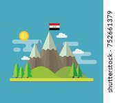 mountain landscape flat design... | Shutterstock .eps vector #752661379