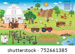 game for children   colors the... | Shutterstock . vector #752661385