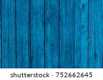 rustic vibrant blue wood wall | Shutterstock . vector #752662645