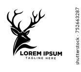 head deer logo   Shutterstock .eps vector #752663287