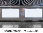 big horizontal poster on metro... | Shutterstock . vector #752668801