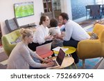 group of a young business... | Shutterstock . vector #752669704