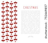 christmas concept with funny... | Shutterstock .eps vector #752669857