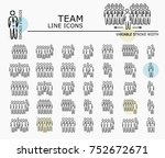 team line icons with minimal...   Shutterstock .eps vector #752672671