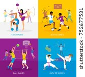 sport games concept with... | Shutterstock . vector #752677531