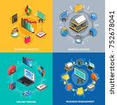 business management analytics... | Shutterstock . vector #752678041