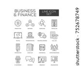business and finance line icons | Shutterstock .eps vector #752678749