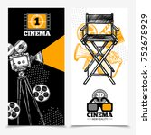 cinema vertical banners with... | Shutterstock . vector #752678929