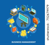 business management financial... | Shutterstock . vector #752679979