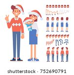 merry christmas and new year.... | Shutterstock .eps vector #752690791