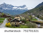 panoramic view of saint gervais ... | Shutterstock . vector #752701321
