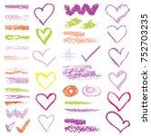 chalk vector textures....   Shutterstock .eps vector #752703235