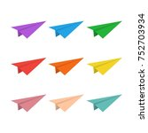 set of colorful  paper planes....   Shutterstock .eps vector #752703934
