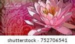 lotus flower on the red... | Shutterstock .eps vector #752706541