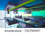 abstract white and colored... | Shutterstock . vector #752709097