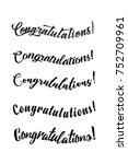 congratulations card.... | Shutterstock .eps vector #752709961