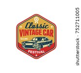 colored old retro style vintage ... | Shutterstock .eps vector #752711005