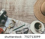 planning new travel... | Shutterstock . vector #752713099
